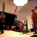 The Studio's cyclorama wall area is the perfect staging area for your event's band.