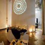 Project an image or images onto the smokestack to add pizzazz to your event's atmosphere.